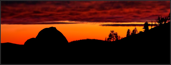 Sunset over Half Dome from Olmstead Point