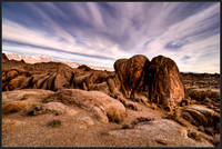 Clouds roll over Alabama Hills