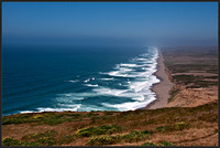 Endless shoreline at Point Reyes National Seashore, California..a.k.a 10 mile beach