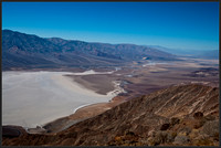 Panamint mountain range and badwater