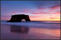 Fading colors over natural bridges