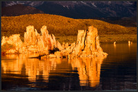Morning glory over Tufa makes it look like solid gold