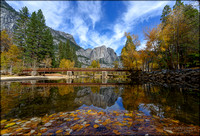 Swinging Bridge and Dried up Yosemite