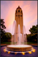 Sunset at Hoover Tower, Stanford University